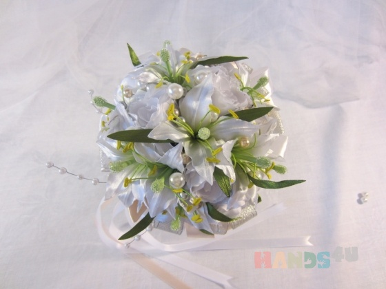Купить Свадебный букет невесты  white, Букеты для невест, Цветы, Свадебный салон ручной работы. Мастер Ирина Савина (iras) . букет-дублер