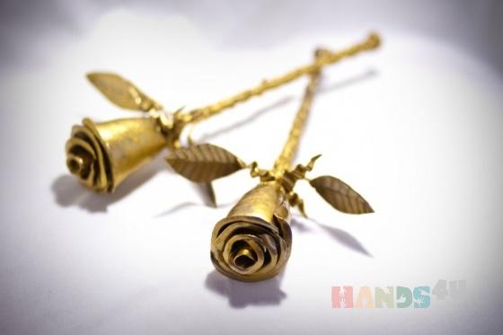 Купить Стальная роза, Смешанная техника, Цветы, Цветы и флористика ручной работы. Мастер Антон Иванов (Anton) . сталь