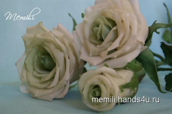 Купить Букет из роз, Полимерная глина, Цветы, Цветы и флористика ручной работы. Мастер Эмилия Мемили (Memili) . холодный фарфор fleur