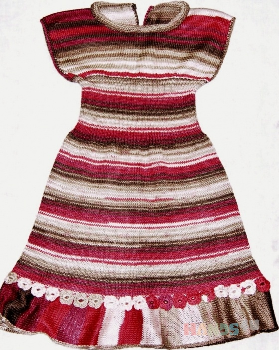 Купить Платье для девочки 3-4х лет, Платья, Одежда для девочек, Работы для детей ручной работы. Мастер Татьяна Тайгунова (tanyabale) . пряжа