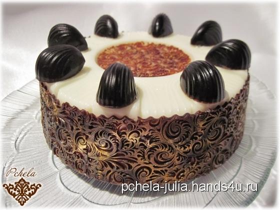 Купить Мыльный торт Королевский шоколадно-сливочный, Сладости, Мыло, Косметика ручной работы. Мастер Юлия Бочалова (pchela-julia) . торт