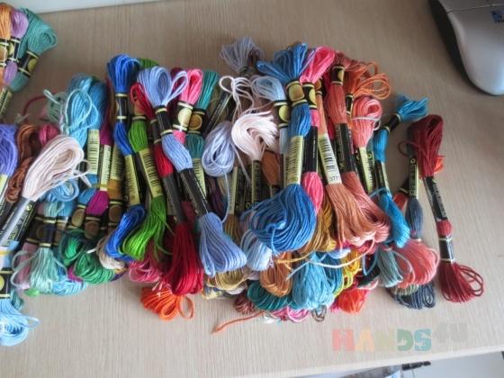 Купить Нитки мулине, Нитки, Вышивка ручной работы. Мастер Юля Беляева (juliana04) . нитки мулине