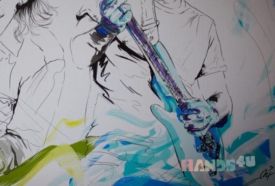 Купить Стив Вай и Джо Сатриани в стиле комиксов Марвела, Картины и панно ручной работы. Мастер Марина Олейникова (CheZaFignya) . графика