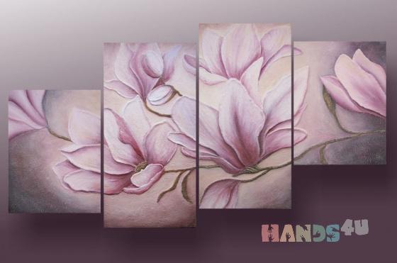 Купить Фреска Магнолии, Картины цветов, Картины и панно ручной работы. Мастер Анна Григорьева (Annadream) .
