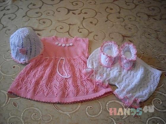 Купить Комплект Нарядная малышка, Комплекты, Одежда для мальчиков, Работы для детей ручной работы. Мастер   (Olga300476) . платье вязаное