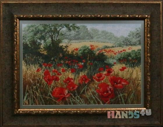 Купить Маковое поле, Картины и панно ручной работы. Мастер   (marina598) . вышитая картина