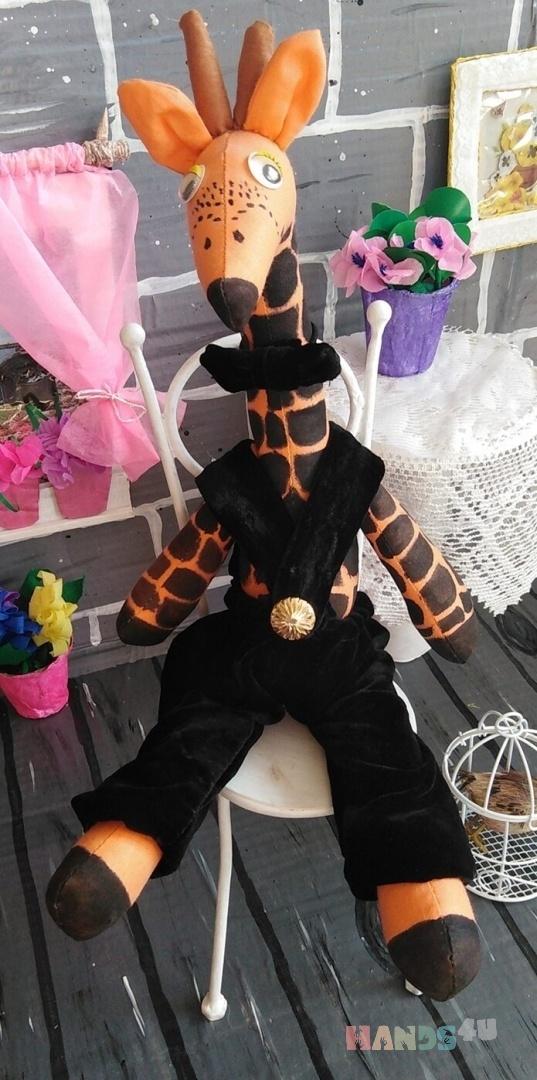 Купить Жирафик Тильда, Куклы Тильды, Куклы и игрушки ручной работы. Мастер Елена Беликова (Belka-Lenka) . тильда жираф