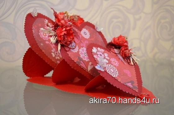 Купить открытка - валентинка Сердечки, Открытки для женщин, Открытки ручной работы. Мастер Анжелика Егорикова (akira70) . бумага для скрапбукинга