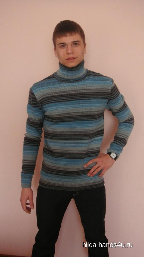 Купить свитер из шерсти мужской, Свитера, Для мужчин, Одежда ручной работы. Мастер Елена Воронина (hilda) . вязаный свитер