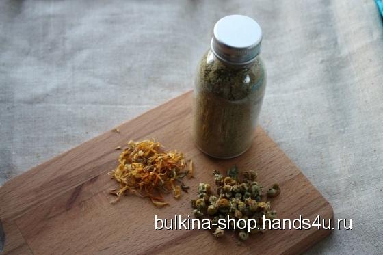 Купить Убтан для жирной кожи лица Ромашка и календула, Скраб, Косметика ручной работы. Мастер Анастасия Булкина (Bulkina-Shop) . для лица