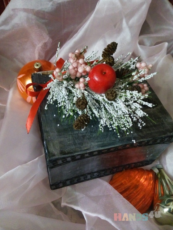 Купить Подарочная коробочка Зимняя ветка, Подарочная упаковка, Сувениры и подарки ручной работы. Мастер Yuliya Svetlitskaya (YuliyaSvet) . упаковка