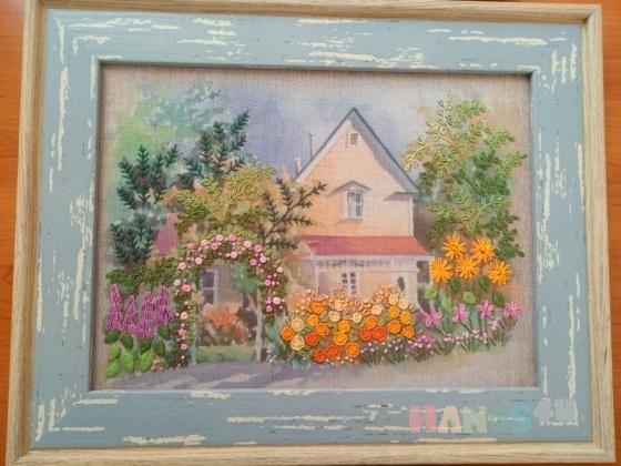 Купить Картина Летняя зарисовка, Пейзаж, Картины и панно ручной работы. Мастер Снежана Снежана (snegana) . вышитая картина