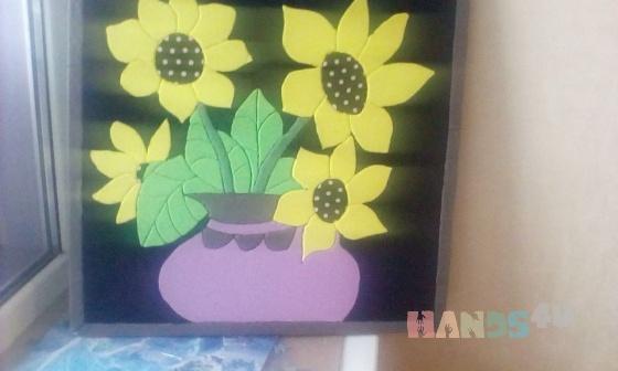 Купить Подсолнухи, Для дома и интерьера ручной работы. Мастер Фаворит Gareeva (Gulnaz2012) .