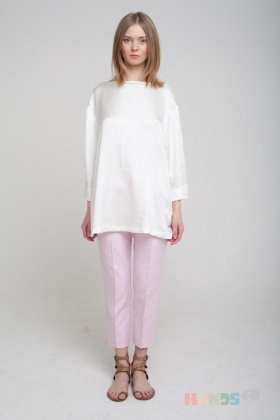 Купить Блузка белая с длинным рукавом , Блузки, Одежда ручной работы. Мастер Оксана ЛИ (sanastudio) . блуза летняя
