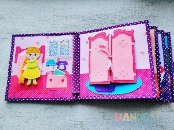 Купить Кукольный домик для девочки из фетра, Кукольный дом, Куклы и игрушки ручной работы. Мастер Елена Новикова (ElenaNov) .