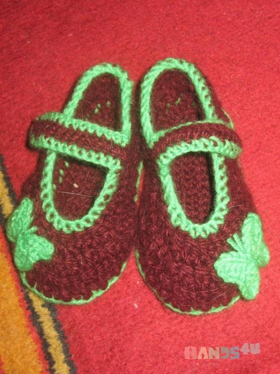Купить Тапочки детские на 2 года, Домашние тапочки, Обувь ручной работы. Мастер Любовь Алексеева (Bunyasha) . тапочки
