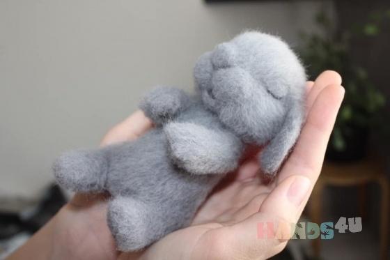 Купить Малыш зайка, Куклы и игрушки ручной работы. Мастер Анна Свистунова (Sdelanrukami) . зайка валяный