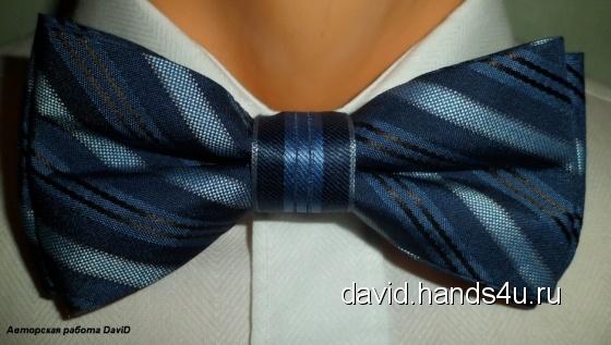 Купить Галстук-бабочка на застёжке Sapphire, Галстуки, бабочки, Аксессуары ручной работы. Мастер Ирина Проп (DaviD) . галстук
