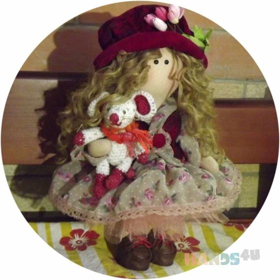 Купить Кукла текстильная ручной работы, Текстильные, Коллекционные куклы, Куклы и игрушки ручной работы. Мастер Вероника  (iojik7) .