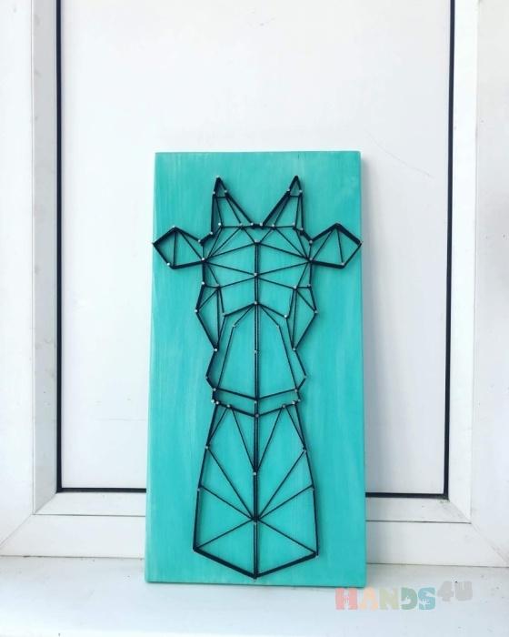 Купить Картина Жираф, Животные, Картины и панно ручной работы. Мастер Раиса Миникаева (art-gvozd) . доска