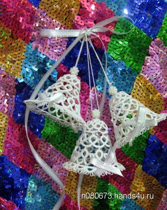 Купить Колокольчики ажурные, Елочные украшения, Новый год, Подарки к праздникам ручной работы. Мастер Наталья Алексеева (n080673) .