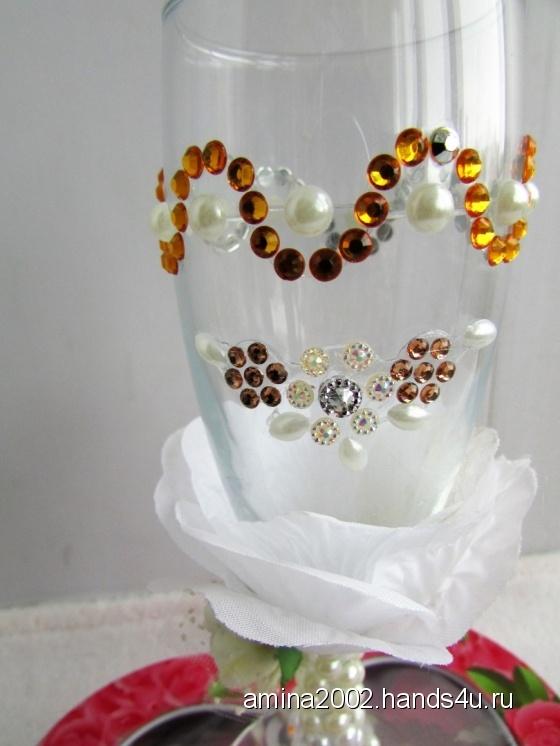 Купить Свадебные бокалы, Бокалы, стаканы, Посуда ручной работы. Мастер Венера Хасанова (amina2002) . бокалы на свадьбу