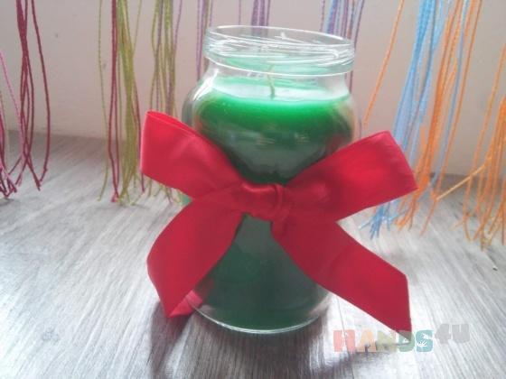 Купить Свеча в стекле, Cвечи ручной работы, Сувениры и подарки ручной работы. Мастер Мария Фолифорова (MarVarAn) . свеча в стекле