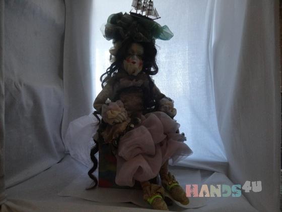 Купить Avrora, Смешанная техника, Коллекционные куклы, Куклы и игрушки ручной работы. Мастер Gvanca Nikuradze (Gvanca) . smeshanai