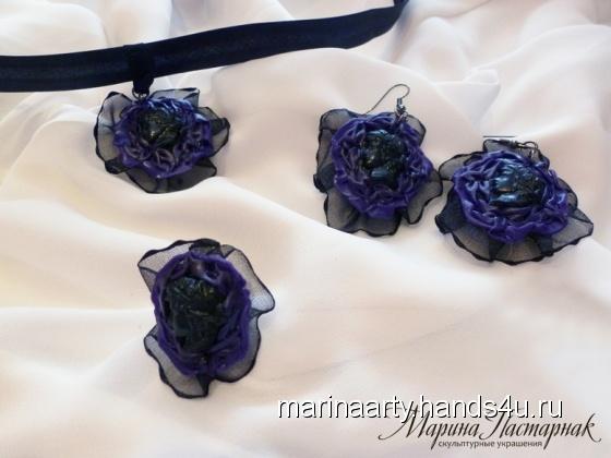 Купить Камеи в фиолете, Украшения ручной работы. Мастер Марина Пастарнак (marinaarty) .