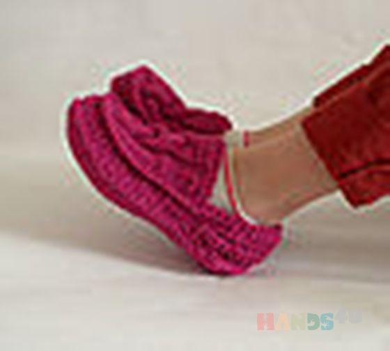 Купить Вязанные тапочки мокассины, Домашние тапочки, Обувь ручной работы. Мастер   (natihands4u) .