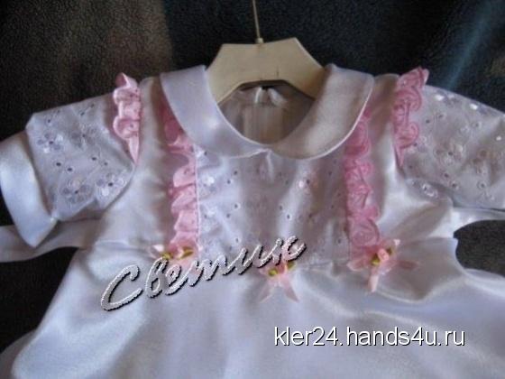 Купить Крестильное платье, Одежда для девочек, Работы для детей ручной работы. Мастер Светлана Глазунова (kler24) . платье