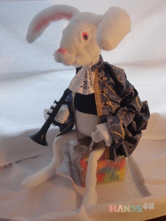 Купить кролик, Смешанная техника, Коллекционные куклы, Куклы и игрушки ручной работы. Мастер Gvanca Nikuradze (Gvanca) .