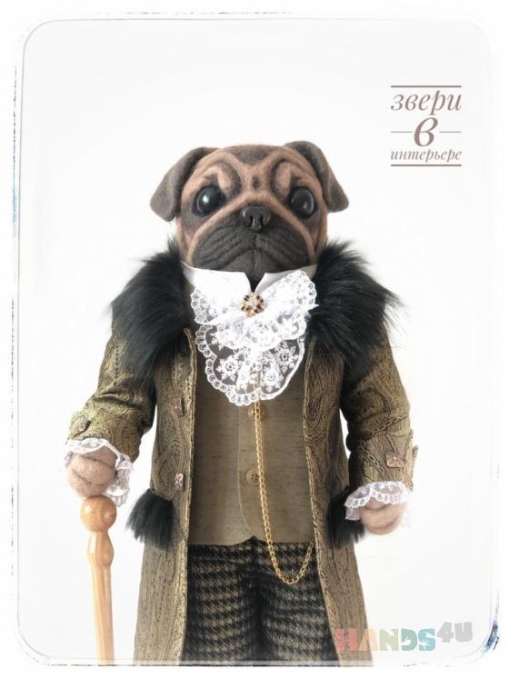 Купить Мопс  Будуарная кукла, Скульптуры, Элементы интерьера, Для дома и интерьера ручной работы. Мастер Елена Свинухова (Dogicat123) .