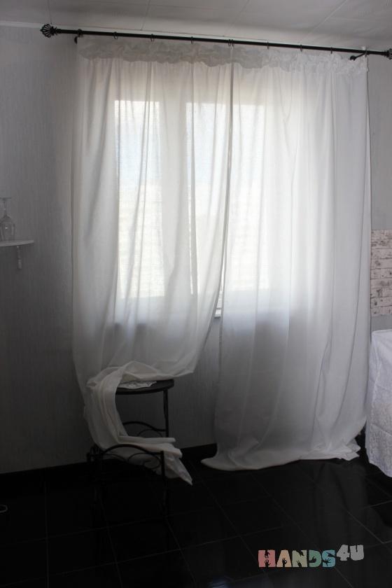 Купить ШТОРЫ ИЗ ЛЬНА, Для дома и интерьера ручной работы. Мастер Ирина Сухина (iraida2803) . шторы буфы лента лен