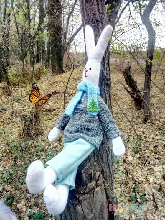 Купить ЗАЯЦ, Куклы Тильды, Куклы и игрушки ручной работы. Мастер ЮЛИЯ ПЕРВУШИНА (YULIYAP) . белый заяц