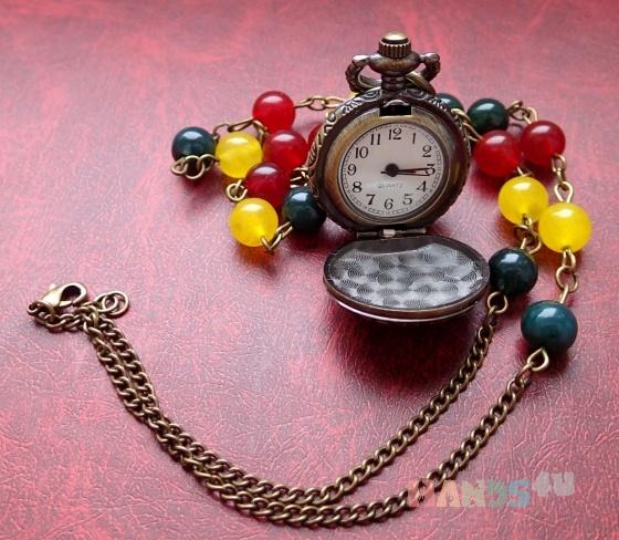 Купить Три цвета, Часы, Украшения ручной работы. Мастер Орхез  (monomarko) . часы-кулон