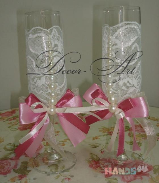 Купить Свадебные бокалы, Свадебные бокалы, Свадебные аксессуары, Свадебный салон ручной работы. Мастер   (Art-Decor) . фужеры