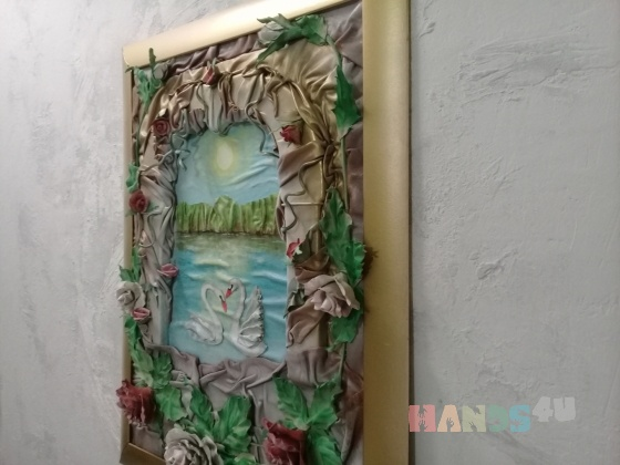 Купить Картина из кожи, Картины цветов, Картины и панно ручной работы. Мастер Людмила Федюкова (Mila17) .