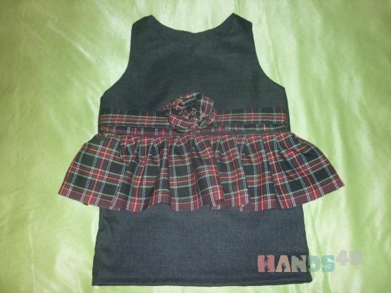 Купить Шерстяное платье с баской для малышки, Платья, Одежда для девочек, Работы для детей ручной работы. Мастер Ирина  (MIrina) . черный