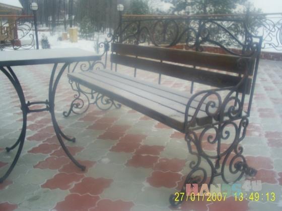 Купить Комплект скамейка и столик, Столы, Мебель, Для дома и интерьера ручной работы. Мастер Stone Decor (Decor-Stone) .