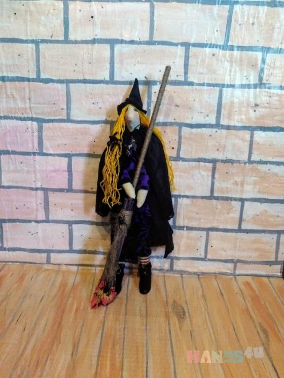 Купить Тильда ведьмочка, Куклы Тильды, Куклы и игрушки ручной работы. Мастер Елена Беликова (Belka-Lenka) . игрушка для интерьера