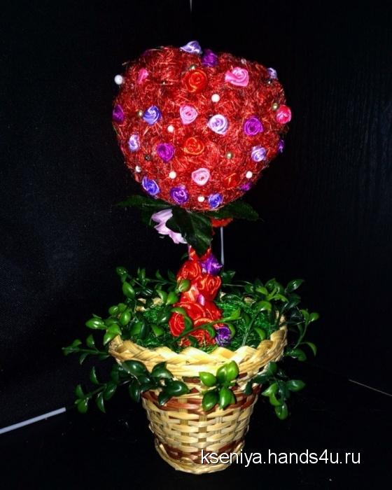 Купить Топиарий Греющее сердце, Подарки для влюбленных, Подарки к праздникам ручной работы. Мастер Ксения Кочергина (kseniya) .