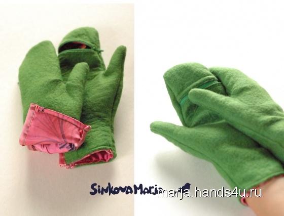 Купить варежки-митенки с контрасной подкладкой, Варежки, Варежки, митенки, перчатки, Аксессуары ручной работы. Мастер марья синькова (marja) . варежки