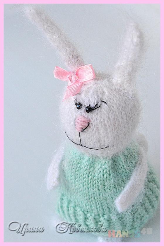 Купить Зайка Пушинка, Зайцы, Зверята, Куклы и игрушки ручной работы. Мастер Ирина Ковенкова (hrumtic) .