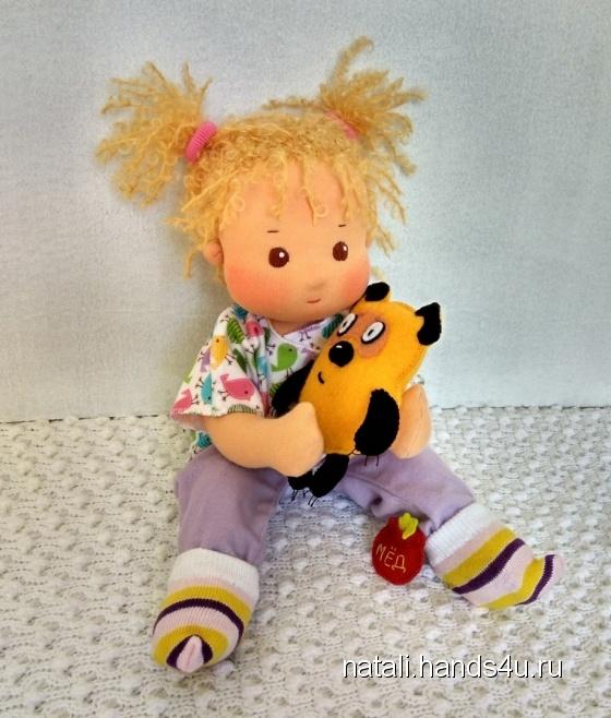 Купить Мамина дочка 31 см - кукла вальдорфская младенец, Вальдорфская игрушка, Куклы и игрушки ручной работы. Мастер Наталия Морозова (Natali) . кукла в подарок