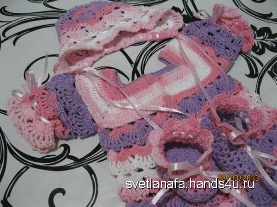 Купить комплект для новорожденной, Одежда, Для новорожденных, Работы для детей ручной работы. Мастер Светлана Фатьянова (svetlanafa) . комплект для малышей