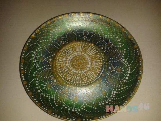 Купить росписная декоративная тарелка, Тарелки, Декоративная посуда, Посуда ручной работы. Мастер   (angelanka) . авторская ручная роспись