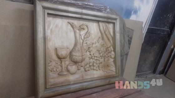 Купить Картина резная Вино, Натюрморт, Картины и панно ручной работы. Мастер Анна Лебедева (Lebedeva42) . резьба по дереву