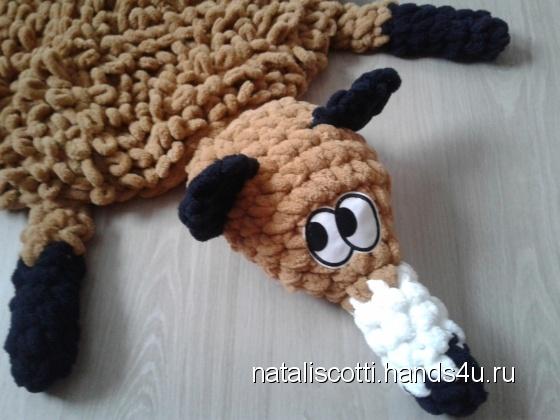 Купить Коврик - игрушка в детскую Хитрый лис, Вязаные, Пледы и одеяла, Работы для детей ручной работы. Мастер   (NataliScotti) . вязаная игрушка