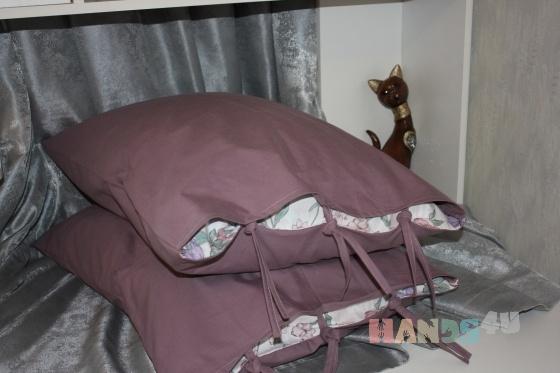 Купить Наволочки для подушек , Для дома и интерьера ручной работы. Мастер Ирина Сухина (iraida2803) . наволочка хлопок завязки